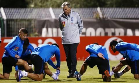 Δείτε την πρώτη προπόνηση της Εθνικής Ελλάδας με τον Αναστασιάδη (vid)