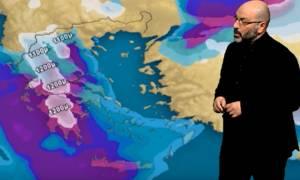 Ολα τα νέα δεδομένα για την κακοκαιρία! Πού θα χιονίσει; Η ανάλυση του Σάκη Αρναούτογλου (video)