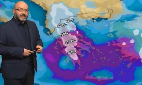 Ραγδαία επιδείνωση του καιρού με καταιγίδες και χιόνια! Η ανάλυση του Σάκη Αρναούτογλου (Video)