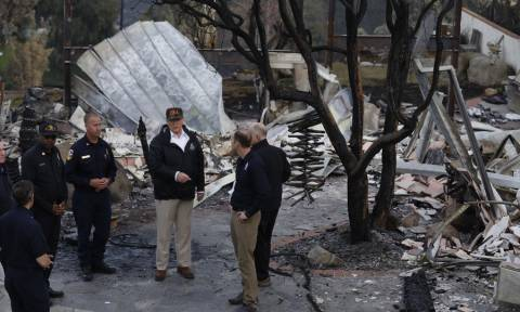 California wildfires: Trump visits state's deadliest blaze