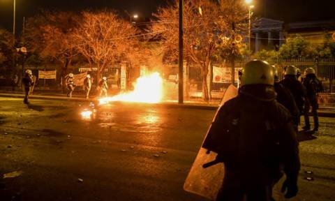 Nineteen arrests over clashes in Polytechnic and Exarchia