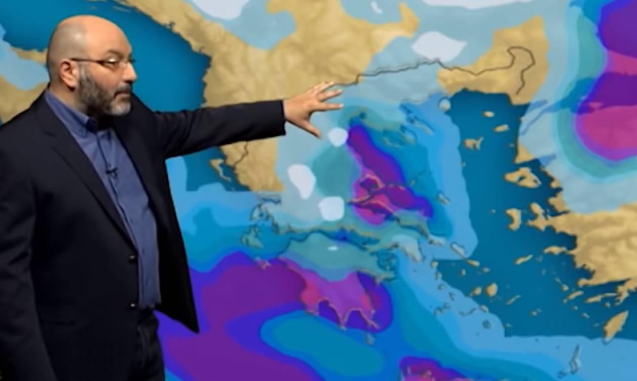 Καιρός: Πού θα σημειωθούν ισχυρές βροχές και καταιγίδες; Η ανάλυση του Σάκη Αρναούτογλου (video)