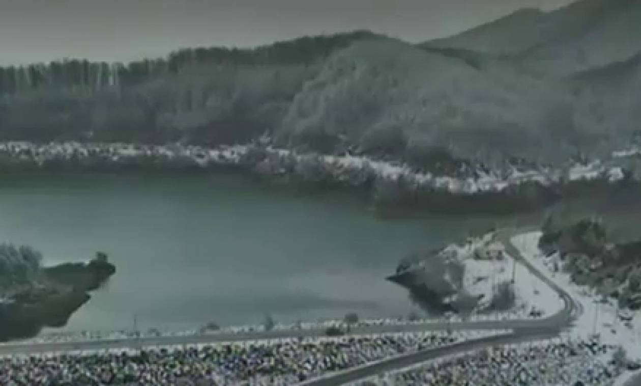 Καιρός: Μαγευτικές εικόνες απ' τον πρώτο χιονιά που έπληξε τη χώρα (video)