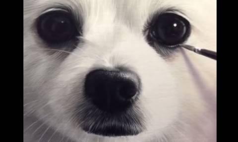 Το πιο ρεαλιστικό πορτρέτο σκύλου που έχετε δει (vid)