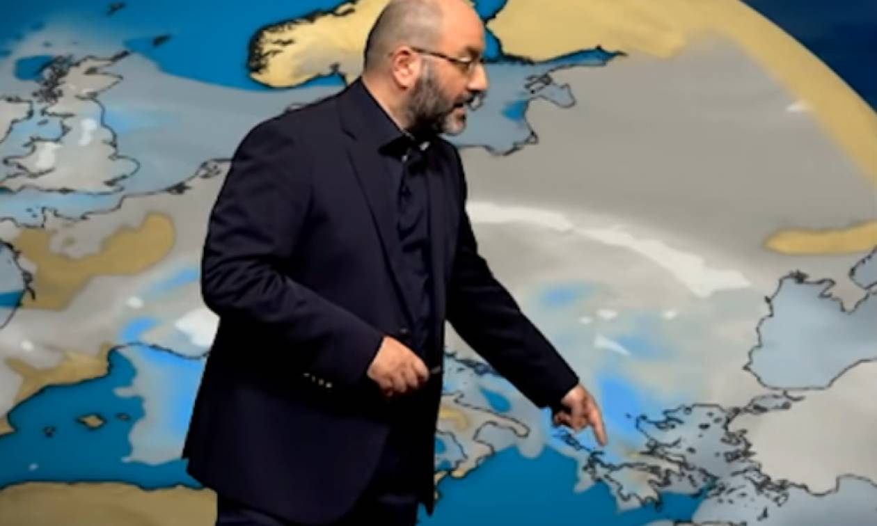 Προειδοποίηση Σάκη Αρναούτογλου: «Ερχεται κατεβασιά κρύου με χιόνια, όχι μόνο στα ορεινά»