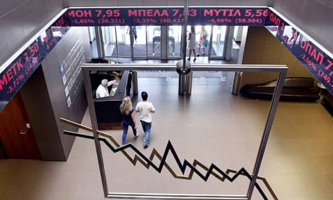 Greek stocks end flat