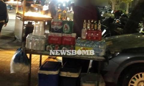 Παράνομη πώληση αλκοόλ έξω από το ΟΑΚΑ - Όργιο φοροδιαφυγής (pics)