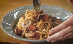 Η συνταγή της ημέρας: Ταλιατέλες με μανιτάρια Bourguignon