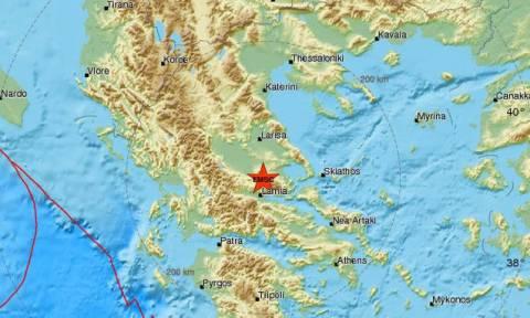 В Греции в районе Ламии произошло землетрясение