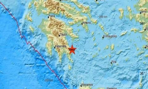В Греции в районе Монемвасьи произошло землетрясение 4,1 балла