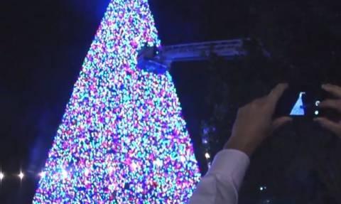 ΗΠΑ: Το εντυπωσιακό χριστουγεννιάτικο δέντρο της Delray Beach (vid)