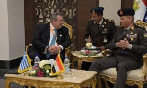 Καμμένος: Ελπίζω σε αμυντικές και ενεργειακές συμφωνίες με την Αίγυπτο