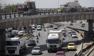 Μποτιλιάρισμα χιλιομέτρων στην Ε.Ο. Αθηνών - Λαμίας