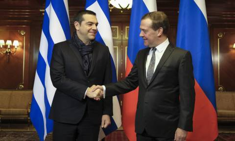 Tsipras to meet Putin, Medvedev; focus on strengthening cooperation
