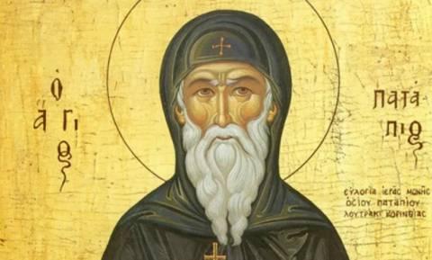 8 Δεκεμβρίου: Γιορτή Του Οσίου Παταπίου