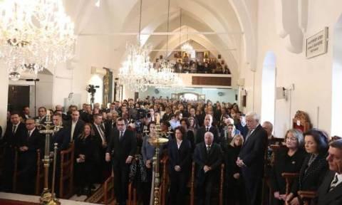 Μνημόσυνο Τάσσου Παπαδόπουλου με φόντο το Κυπριακό