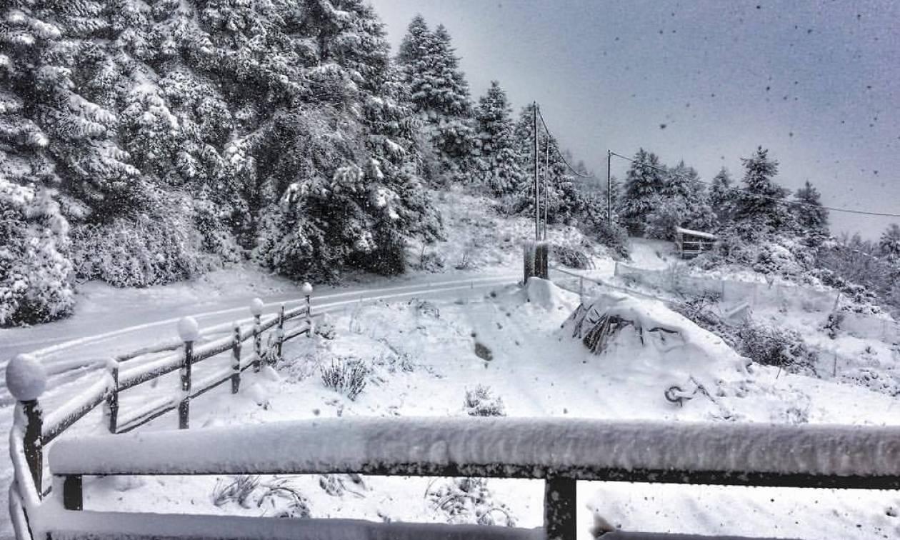 Πού θα χιονίζει από σήμερα; Η Πέμπτη, η πιο δύσκολη μέρα, ο καιρός μέχρι την Κυριακή (Photos)