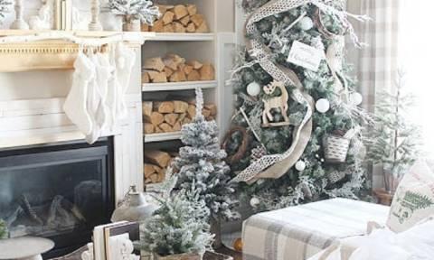 Λευκή χριστουγεννιάτικη διακόσμηση - Είκοσι μοναδικές ιδέες (pics)