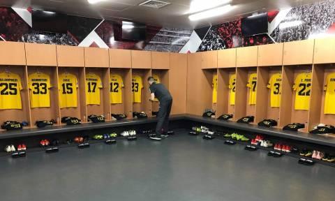 Η άφιξη της ΑΕΚ στο «Ντα Λουζ» για το ματς με τη Μπενφίκα (video+photos)