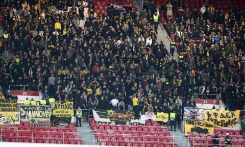 Οι οπαδοί της ΑΕΚ στον αγώνα με τη Μπενίκα στη Λισαβόνα (photos)