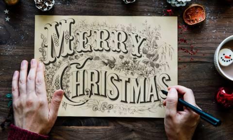 DIY: 34 τρόποι για να φτιάξεις τις πιο όμορφες κάρτες για τα Χριστούγεννα και την Πρωτοχρονιά