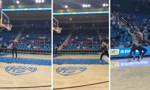 Πήρε τη μπάλα του μπάσκετ και... κούφανε όλο το γήπεδο (video)