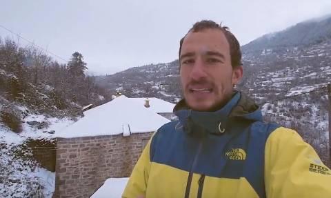 Ο Κωνσταντίνος παρουσιάζει το χιονισμένο Πετρίλο και ζητά τη στήριξη όλων... (Video)