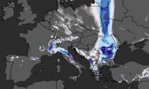 Καιρός: Πόσα εκατοστά χιονιού θα πέσουν Τρίτη και Τετάρτη και σε ποιες περιοχές; (video)